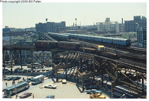 (80k, 620x420)<br><b>Country:</b> United States<br><b>City:</b> New York<br><b>System:</b> New York City Transit<br><b>Line:</b> BMT Astoria Line<br><b>Location:</b> Queensborough Plaza <br><b>Route:</b> Work Service<br><b>Car:</b> Low-V  <br><b>Photo by:</b> Bill Palter<br><b>Viewed (this week/total):</b> 0 / 4137