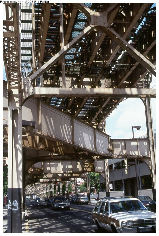 (130k, 553x820)<br><b>Country:</b> United States<br><b>City:</b> New York<br><b>System:</b> New York City Transit<br><b>Line:</b> 9th Avenue El<br><b>Location:</b> Jerome Avenue-9th Avenue El Connection <br><b>Photo by:</b> Bill Palter<br><b>Date:</b> 1999<br><b>Notes:</b> Remains of 9th Ave. el connection to Jerome Ave./Woodlawn line.<br><b>Viewed (this week/total):</b> 3 / 2392