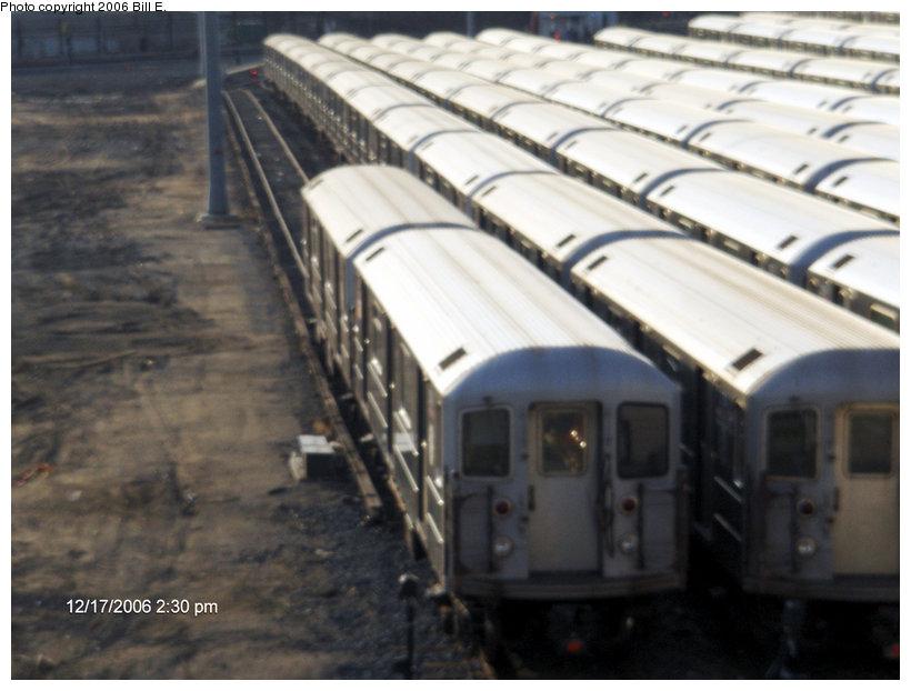 (122k, 820x622)<br><b>Country:</b> United States<br><b>City:</b> New York<br><b>System:</b> New York City Transit<br><b>Location:</b> Corona Yard<br><b>Car:</b> R-62A (Bombardier, 1984-1987)   <br><b>Photo by:</b> Bill E.<br><b>Date:</b> 12/17/2006<br><b>Viewed (this week/total):</b> 1 / 2201