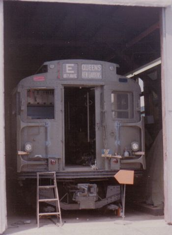(22k, 350x480)<br><b>Country:</b> United States<br><b>City:</b> East Haven/Branford, Ct.<br><b>System:</b> Shore Line Trolley Museum <br><b>Car:</b> R-9 (American Car & Foundry, 1940)  1689 <br><b>Collection of:</b> Vic Gordon<br><b>Notes:</b> R9 1689 in the shop at Shore Line.<br><b>Viewed (this week/total):</b> 1 / 1235