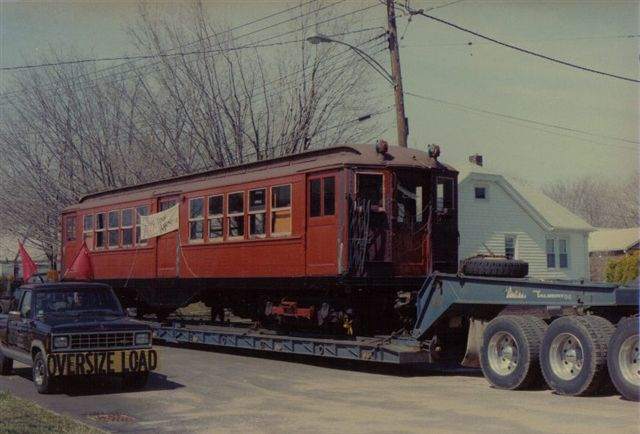 (48k, 640x434)<br><b>Country:</b> United States<br><b>City:</b> East Haven/Branford, Ct.<br><b>System:</b> Shore Line Trolley Museum <br><b>Car:</b> Low-V 5466 <br><b>Collection of:</b> Vic Gordon<br><b>Notes:</b> Arriving at Shore Line.<br><b>Viewed (this week/total):</b> 0 / 1045