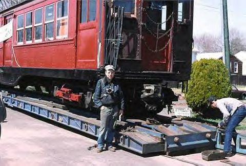(41k, 480x323)<br><b>Country:</b> United States<br><b>City:</b> East Haven/Branford, Ct.<br><b>System:</b> Shore Line Trolley Museum <br><b>Car:</b> Low-V 5466 <br><b>Collection of:</b> Vic Gordon<br><b>Notes:</b> Arriving at Shore Line.<br><b>Viewed (this week/total):</b> 2 / 1511
