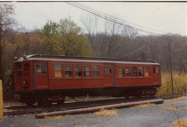 (44k, 640x437)<br><b>Country:</b> United States<br><b>City:</b> East Haven/Branford, Ct.<br><b>System:</b> Shore Line Trolley Museum <br><b>Car:</b> Low-V 5466 <br><b>Collection of:</b> Vic Gordon<br><b>Notes:</b> Day of arrival at Shore Line.<br><b>Viewed (this week/total):</b> 1 / 988