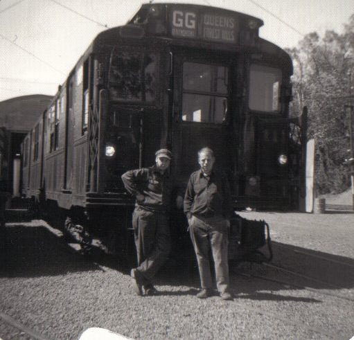 (48k, 511x491)<br><b>Country:</b> United States<br><b>City:</b> East Haven/Branford, Ct.<br><b>System:</b> Shore Line Trolley Museum <br><b>Car:</b> R-9 (American Car & Foundry, 1940)  1689 <br><b>Collection of:</b> Vic Gordon<br><b>Date:</b> 1974<br><b>Notes:</b> 1689 after arriving at Shore Line.<br><b>Viewed (this week/total):</b> 0 / 1502