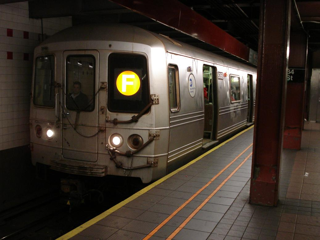 (103k, 1037x778)<br><b>Country:</b> United States<br><b>City:</b> New York<br><b>System:</b> New York City Transit<br><b>Line:</b> IND 6th Avenue Line<br><b>Location:</b> 34th Street/Herald Square <br><b>Route:</b> F<br><b>Car:</b> R-46 (Pullman-Standard, 1974-75) 6068 <br><b>Photo by:</b> Michael Hodurski<br><b>Date:</b> 12/28/2006<br><b>Viewed (this week/total):</b> 3 / 3150