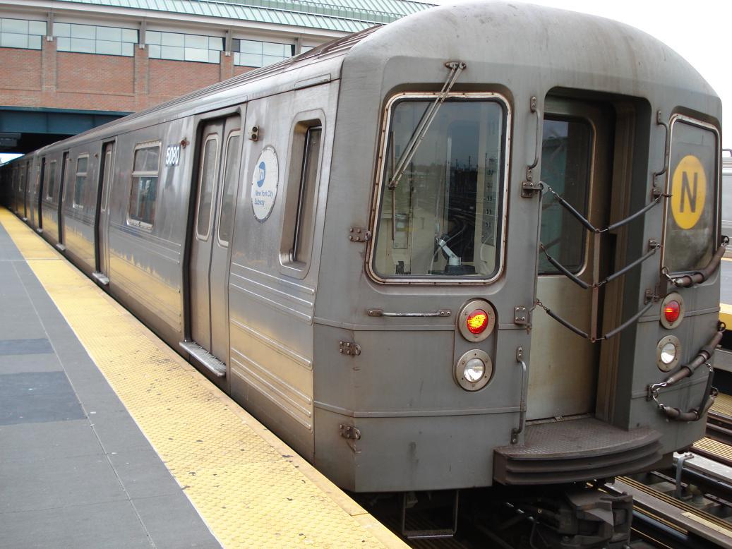 (130k, 1037x778)<br><b>Country:</b> United States<br><b>City:</b> New York<br><b>System:</b> New York City Transit<br><b>Location:</b> Coney Island/Stillwell Avenue<br><b>Route:</b> N<br><b>Car:</b> R-68A (Kawasaki, 1988-1989)  5080 <br><b>Photo by:</b> Michael Hodurski<br><b>Date:</b> 12/29/2006<br><b>Viewed (this week/total):</b> 2 / 1978