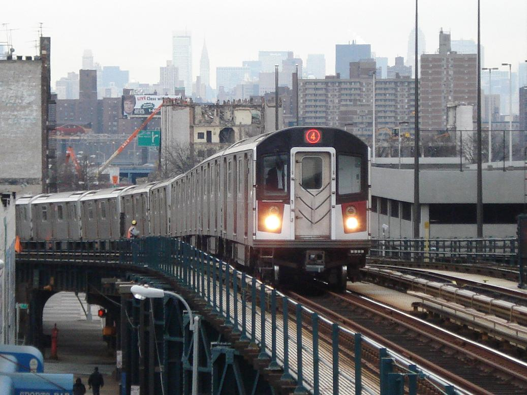 (144k, 1037x778)<br><b>Country:</b> United States<br><b>City:</b> New York<br><b>System:</b> New York City Transit<br><b>Line:</b> IRT Woodlawn Line<br><b>Location:</b> 161st Street/River Avenue (Yankee Stadium) <br><b>Route:</b> 4<br><b>Car:</b> R-142A (Option Order, Kawasaki, 2002-2003)  7701 <br><b>Photo by:</b> Michael Hodurski<br><b>Date:</b> 12/29/2006<br><b>Viewed (this week/total):</b> 0 / 2973