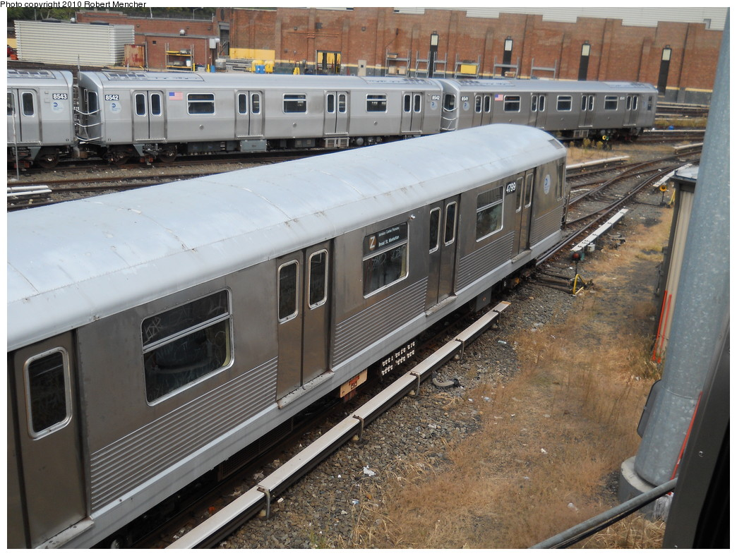 (308k, 1044x788)<br><b>Country:</b> United States<br><b>City:</b> New York<br><b>System:</b> New York City Transit<br><b>Location:</b> East New York Yard/Shops<br><b>Car:</b> R-42 (St. Louis, 1969-1970)  4799 <br><b>Photo by:</b> Robert Mencher<br><b>Date:</b> 8/9/2010<br><b>Viewed (this week/total):</b> 0 / 698