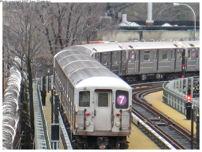 (136k, 820x620)<br><b>Country:</b> United States<br><b>City:</b> New York<br><b>System:</b> New York City Transit<br><b>Location:</b> Corona Yard<br><b>Car:</b> R-62A (Bombardier, 1984-1987)  1975 <br><b>Photo by:</b> Gary Chatterton<br><b>Date:</b> 12/23/2006<br><b>Viewed (this week/total):</b> 0 / 2437
