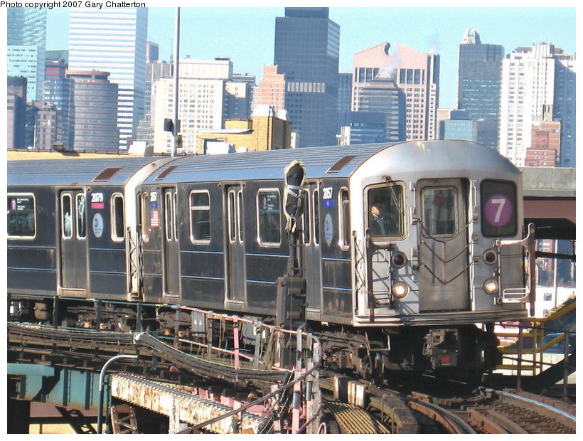 (153k, 820x620)<br><b>Country:</b> United States<br><b>City:</b> New York<br><b>System:</b> New York City Transit<br><b>Line:</b> IRT Flushing Line<br><b>Location:</b> Queensborough Plaza <br><b>Route:</b> 7<br><b>Car:</b> R-62A (Bombardier, 1984-1987)  2057 <br><b>Photo by:</b> Gary Chatterton<br><b>Date:</b> 12/9/2006<br><b>Viewed (this week/total):</b> 0 / 2620