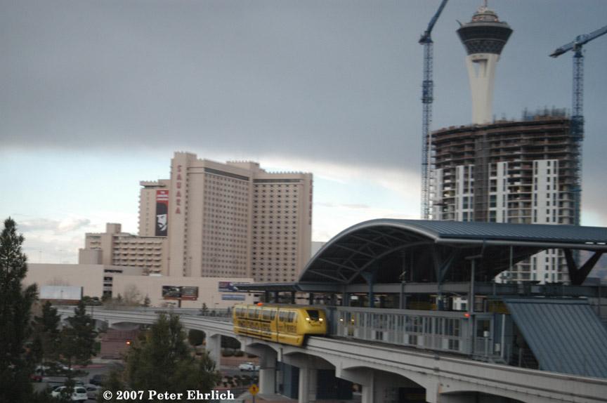 (136k, 864x574)<br><b>Country:</b> United States<br><b>City:</b> Las Vegas, NV<br><b>System:</b> Las Vegas Monorail<br><b>Location:</b> Las Vegas Hilton <br><b>Car:</b>  3 <br><b>Photo by:</b> Peter Ehrlich<br><b>Date:</b> 1/12/2007<br><b>Notes:</b> Hilton Station southbound.<br><b>Viewed (this week/total):</b> 0 / 1915