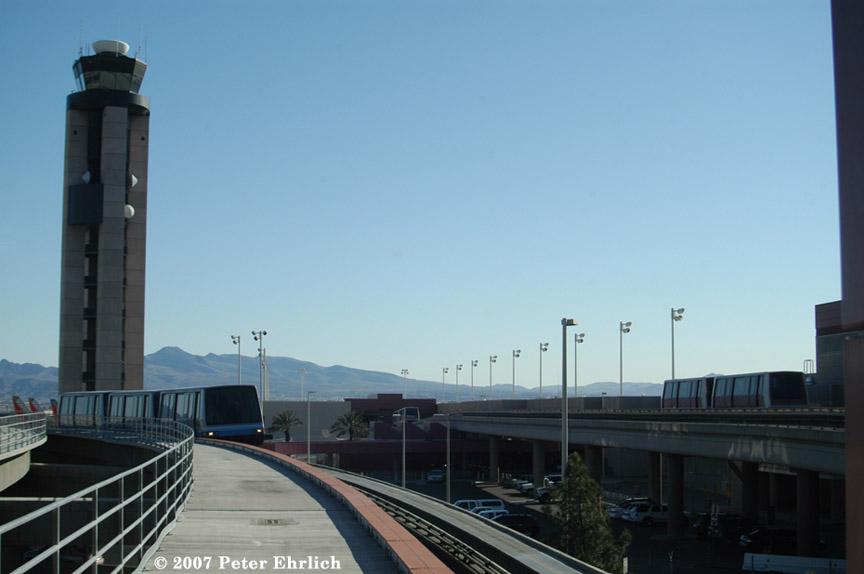(114k, 864x574)<br><b>Country:</b> United States<br><b>City:</b> Las Vegas, NV<br><b>System:</b> Las Vegas Airport People Movers<br><b>Photo by:</b> Peter Ehrlich<br><b>Date:</b> 1/13/2007<br><b>Notes:</b> C/D Terminal trains.<br><b>Viewed (this week/total):</b> 2 / 2120