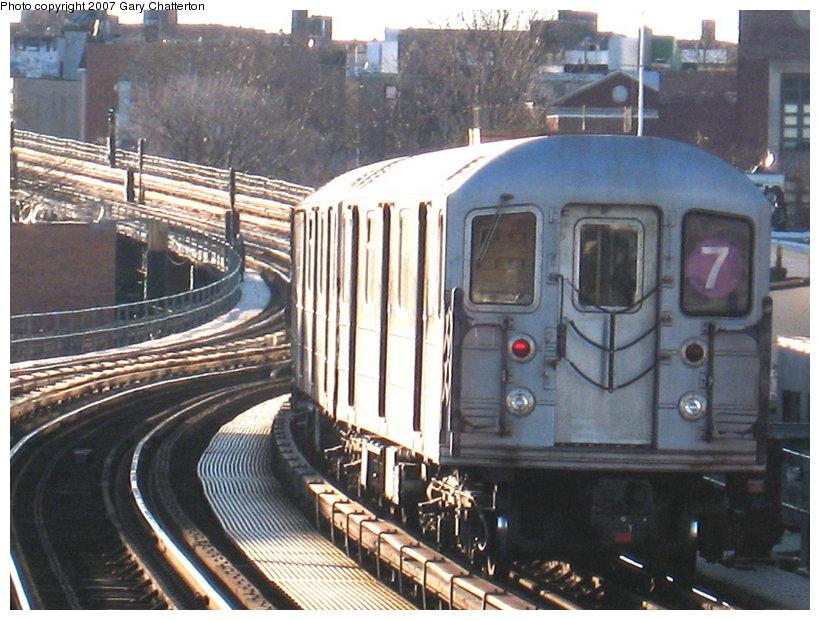(133k, 820x620)<br><b>Country:</b> United States<br><b>City:</b> New York<br><b>System:</b> New York City Transit<br><b>Line:</b> IRT Flushing Line<br><b>Location:</b> 61st Street/Woodside <br><b>Route:</b> 7<br><b>Car:</b> R-62A (Bombardier, 1984-1987)  2078 <br><b>Photo by:</b> Gary Chatterton<br><b>Date:</b> 1/17/2007<br><b>Viewed (this week/total):</b> 0 / 1740