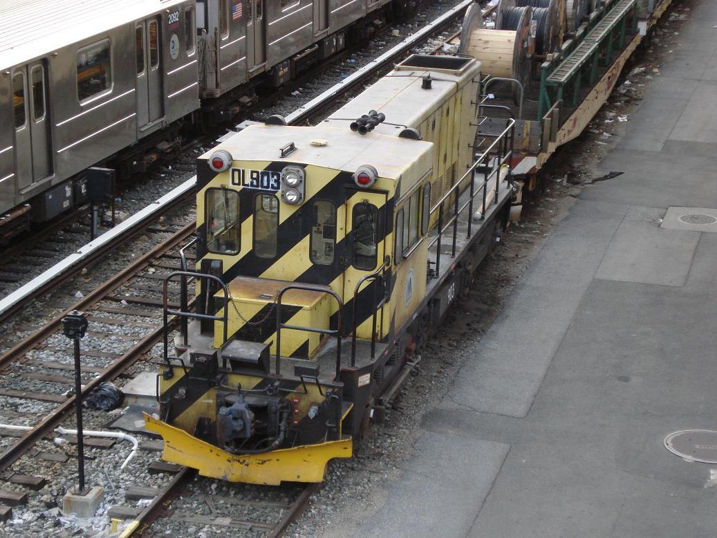 (161k, 1037x778)<br><b>Country:</b> United States<br><b>City:</b> New York<br><b>System:</b> New York City Transit<br><b>Location:</b> Corona Yard<br><b>Car:</b> R-120 Locomotive  903 <br><b>Photo by:</b> Michael Hodurski<br><b>Date:</b> 1/21/2007<br><b>Viewed (this week/total):</b> 1 / 1588