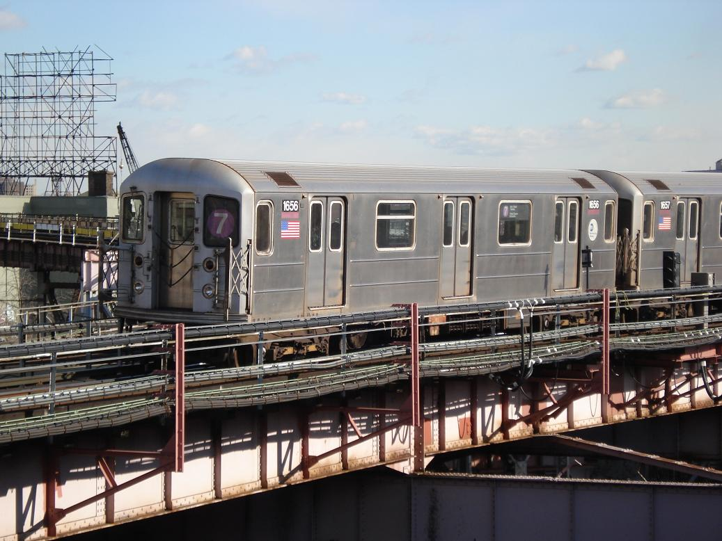 (144k, 1037x778)<br><b>Country:</b> United States<br><b>City:</b> New York<br><b>System:</b> New York City Transit<br><b>Line:</b> IRT Flushing Line<br><b>Location:</b> Queensborough Plaza <br><b>Route:</b> 7<br><b>Car:</b> R-62A (Bombardier, 1984-1987)  1656 <br><b>Photo by:</b> Michael Hodurski<br><b>Date:</b> 1/26/2007<br><b>Viewed (this week/total):</b> 2 / 1868