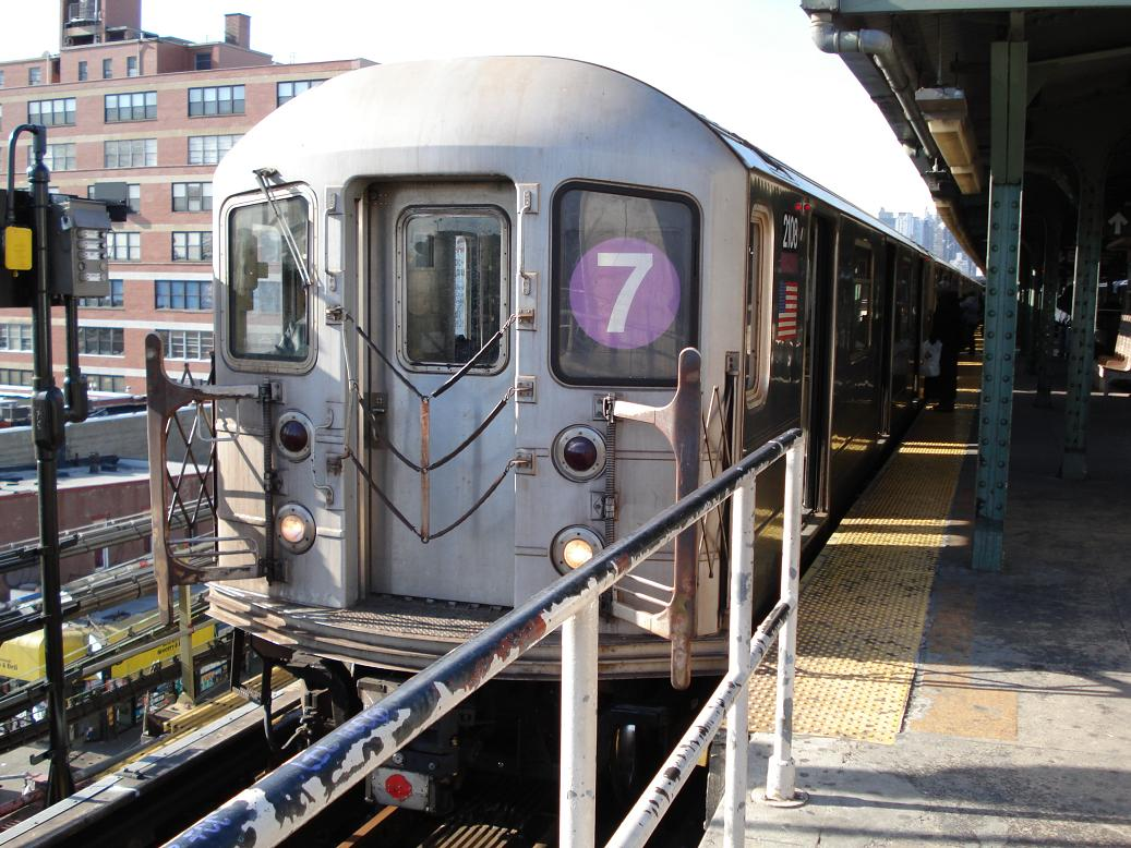 (165k, 1037x778)<br><b>Country:</b> United States<br><b>City:</b> New York<br><b>System:</b> New York City Transit<br><b>Line:</b> IRT Flushing Line<br><b>Location:</b> Queensborough Plaza <br><b>Route:</b> 7<br><b>Car:</b> R-62A (Bombardier, 1984-1987)  2108 <br><b>Photo by:</b> Michael Hodurski<br><b>Date:</b> 1/26/2007<br><b>Viewed (this week/total):</b> 2 / 1926