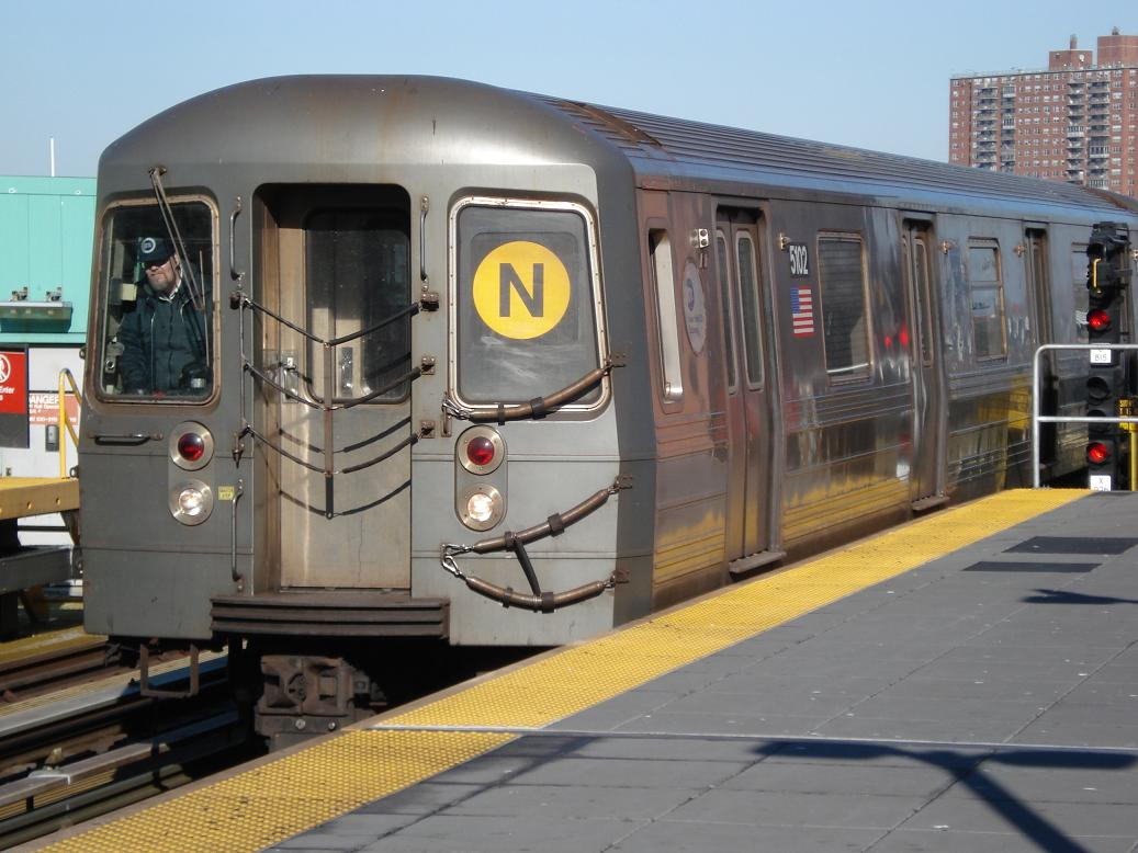 (124k, 1037x778)<br><b>Country:</b> United States<br><b>City:</b> New York<br><b>System:</b> New York City Transit<br><b>Location:</b> Coney Island/Stillwell Avenue<br><b>Route:</b> N<br><b>Car:</b> R-68A (Kawasaki, 1988-1989)  5102 <br><b>Photo by:</b> Michael Hodurski<br><b>Date:</b> 1/31/2007<br><b>Viewed (this week/total):</b> 0 / 2049