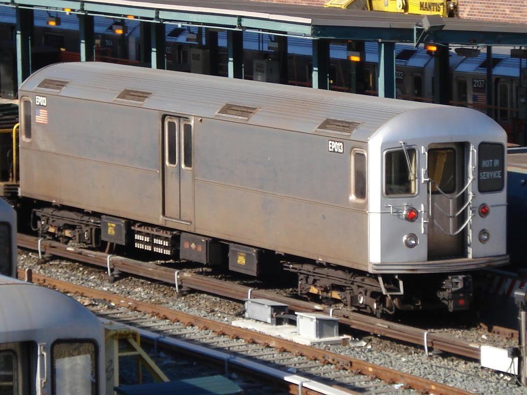 (138k, 1037x778)<br><b>Country:</b> United States<br><b>City:</b> New York<br><b>System:</b> New York City Transit<br><b>Location:</b> Corona Yard<br><b>Route:</b> Work Service<br><b>Car:</b> R-127/R-134 (Kawasaki, 1991-1996) EP013 <br><b>Photo by:</b> Michael Hodurski<br><b>Date:</b> 2/4/2007<br><b>Viewed (this week/total):</b> 3 / 2687