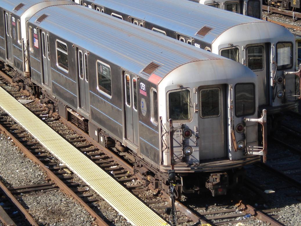 (192k, 1037x778)<br><b>Country:</b> United States<br><b>City:</b> New York<br><b>System:</b> New York City Transit<br><b>Location:</b> Corona Yard<br><b>Car:</b> R-62A (Bombardier, 1984-1987)  1751 <br><b>Photo by:</b> Michael Hodurski<br><b>Date:</b> 2/4/2007<br><b>Viewed (this week/total):</b> 0 / 1634