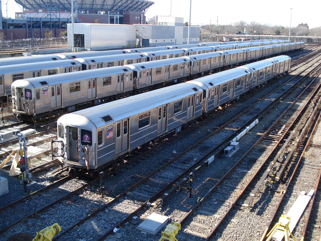 (235k, 1037x778)<br><b>Country:</b> United States<br><b>City:</b> New York<br><b>System:</b> New York City Transit<br><b>Location:</b> Corona Yard<br><b>Car:</b> R-62A (Bombardier, 1984-1987)  1944/2000 <br><b>Photo by:</b> Michael Hodurski<br><b>Date:</b> 2/4/2007<br><b>Viewed (this week/total):</b> 2 / 2543
