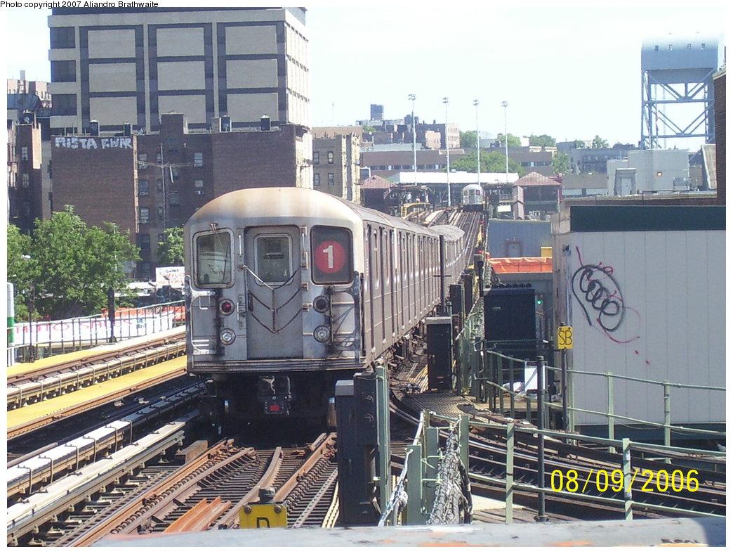 (224k, 1044x788)<br><b>Country:</b> United States<br><b>City:</b> New York<br><b>System:</b> New York City Transit<br><b>Line:</b> IRT West Side Line<br><b>Location:</b> 207th Street <br><b>Route:</b> 1<br><b>Car:</b> R-62 (Kawasaki, 1983-1985)   <br><b>Photo by:</b> Aliandro Brathwaite<br><b>Date:</b> 8/9/2006<br><b>Viewed (this week/total):</b> 0 / 3002