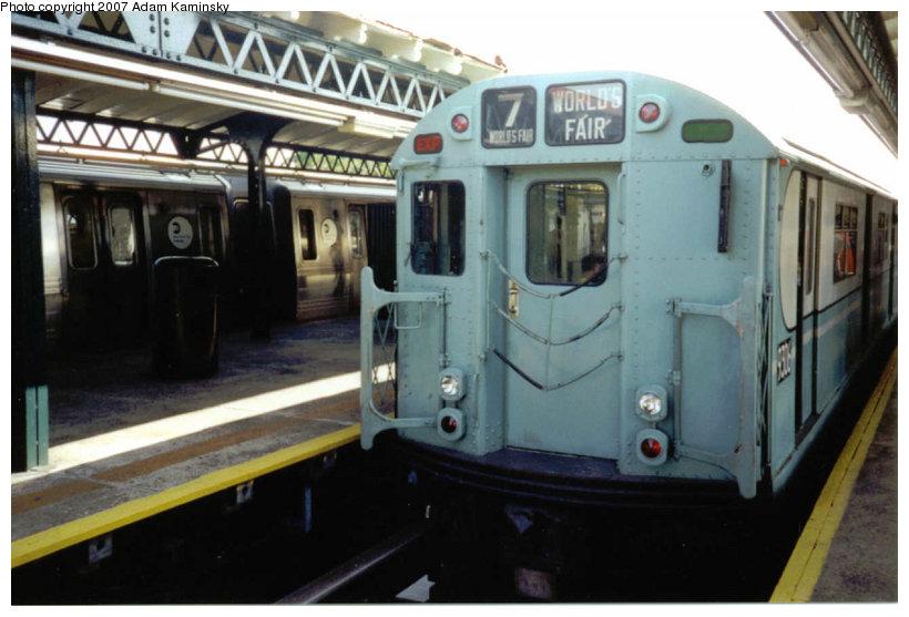 (100k, 820x557)<br><b>Country:</b> United States<br><b>City:</b> New York<br><b>System:</b> New York City Transit<br><b>Line:</b> BMT Astoria Line<br><b>Location:</b> Astoria Boulevard/Hoyt Avenue <br><b>Route:</b> Fan Trip<br><b>Car:</b> R-33 World's Fair (St. Louis, 1963-64) 9306 <br><b>Photo by:</b> Adam Kaminsky<br><b>Date:</b> 8/23/2003<br><b>Viewed (this week/total):</b> 2 / 2068