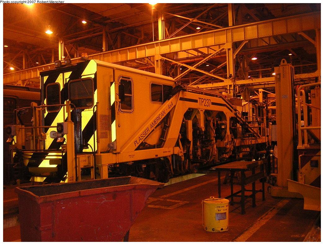 (255k, 1044x788)<br><b>Country:</b> United States<br><b>City:</b> New York<br><b>System:</b> New York City Transit<br><b>Location:</b> Coney Island Shop/Overhaul & Repair Shop<br><b>Car:</b> Ballast Tamper TP237 <br><b>Photo by:</b> Robert Mencher<br><b>Date:</b> 2/9/2007<br><b>Viewed (this week/total):</b> 0 / 1664