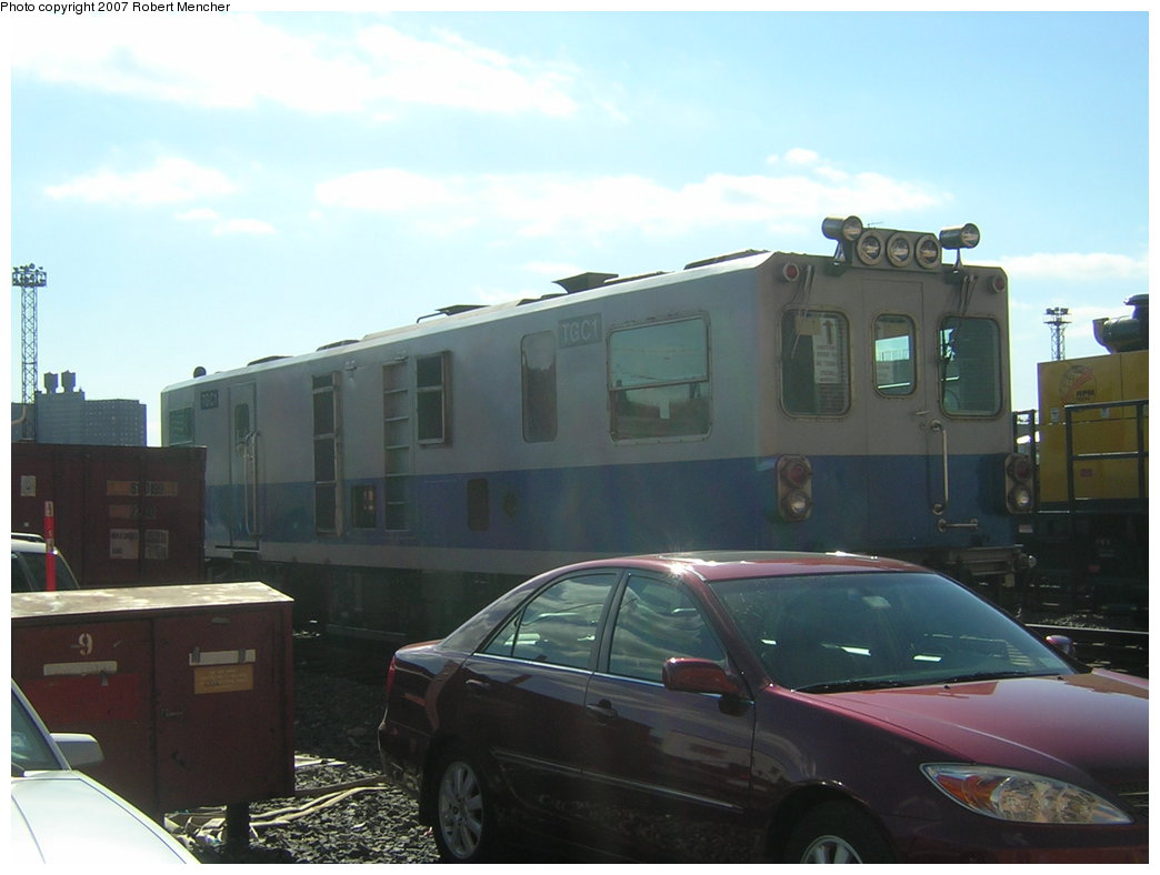 (145k, 1044x788)<br><b>Country:</b> United States<br><b>City:</b> New York<br><b>System:</b> New York City Transit<br><b>Location:</b> Coney Island Yard<br><b>Car:</b> Track Geometry Car TGC1 <br><b>Photo by:</b> Robert Mencher<br><b>Date:</b> 2/9/2007<br><b>Viewed (this week/total):</b> 2 / 2114