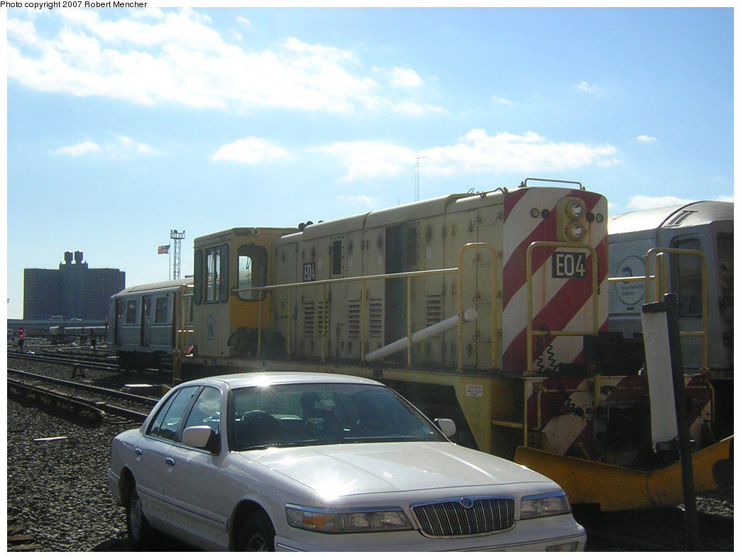 (161k, 1044x788)<br><b>Country:</b> United States<br><b>City:</b> New York<br><b>System:</b> New York City Transit<br><b>Location:</b> Coney Island Yard<br><b>Car:</b> R-77E Locomotive  E04 <br><b>Photo by:</b> Robert Mencher<br><b>Date:</b> 2/9/2007<br><b>Viewed (this week/total):</b> 2 / 1622