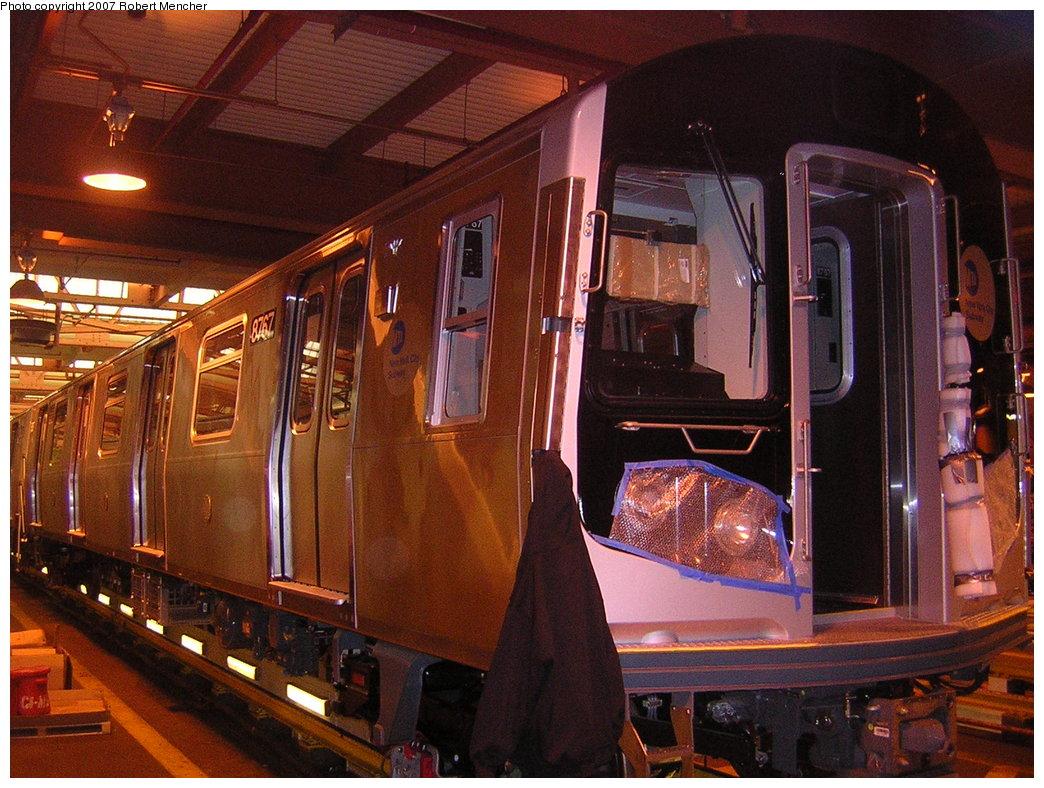 (243k, 1044x788)<br><b>Country:</b> United States<br><b>City:</b> New York<br><b>System:</b> New York City Transit<br><b>Location:</b> Coney Island Shop/Overhaul & Repair Shop<br><b>Car:</b> R-160B (Kawasaki, 2005-2008)  8767 <br><b>Photo by:</b> Robert Mencher<br><b>Date:</b> 2/9/2007<br><b>Viewed (this week/total):</b> 1 / 3228