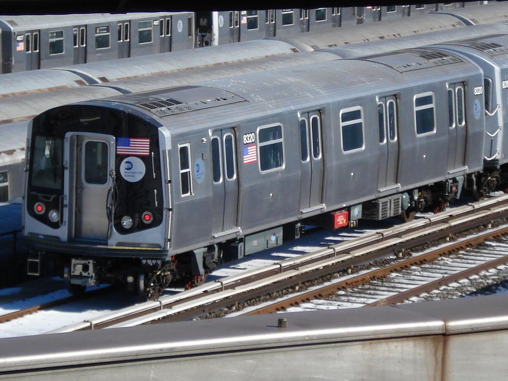 (139k, 1037x778)<br><b>Country:</b> United States<br><b>City:</b> New York<br><b>System:</b> New York City Transit<br><b>Location:</b> East New York Yard/Shops<br><b>Car:</b> R-160A-1 (Alstom, 2005-2008, 4 car sets)  8320 <br><b>Photo by:</b> Michael Hodurski<br><b>Date:</b> 2/19/2007<br><b>Viewed (this week/total):</b> 0 / 3201