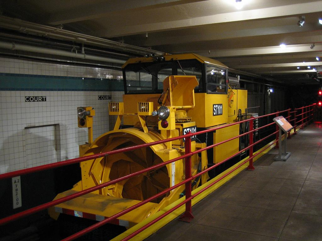 (116k, 1024x768)<br><b>Country:</b> United States<br><b>City:</b> New York<br><b>System:</b> New York City Transit<br><b>Location:</b> New York Transit Museum<br><b>Route:</b> Work Service<br><b>Car:</b> R-146 Snow Removal Car ST101 <br><b>Photo by:</b> Michael Hodurski<br><b>Date:</b> 9/16/2006<br><b>Viewed (this week/total):</b> 2 / 5045