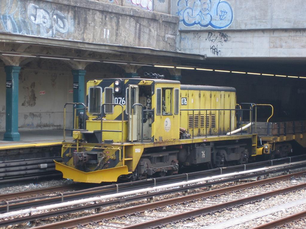 (150k, 1024x768)<br><b>Country:</b> United States<br><b>City:</b> New York<br><b>System:</b> New York City Transit<br><b>Line:</b> BMT Sea Beach Line<br><b>Location:</b> Kings Highway <br><b>Route:</b> Work Service<br><b>Car:</b> R-52 Locomotive  76 <br><b>Photo by:</b> Michael Hodurski<br><b>Date:</b> 7/20/2006<br><b>Viewed (this week/total):</b> 1 / 1471