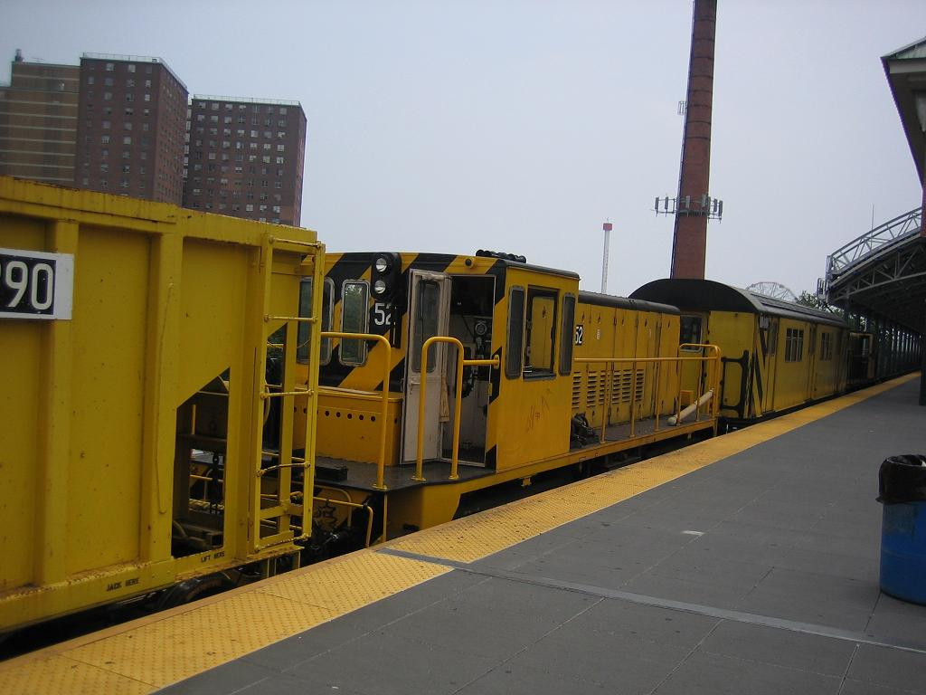 (94k, 1024x768)<br><b>Country:</b> United States<br><b>City:</b> New York<br><b>System:</b> New York City Transit<br><b>Location:</b> Coney Island/Stillwell Avenue<br><b>Route:</b> Work Service<br><b>Car:</b> R-37 Locomotive  52 <br><b>Photo by:</b> Michael Hodurski<br><b>Date:</b> 7/12/2006<br><b>Viewed (this week/total):</b> 0 / 1795