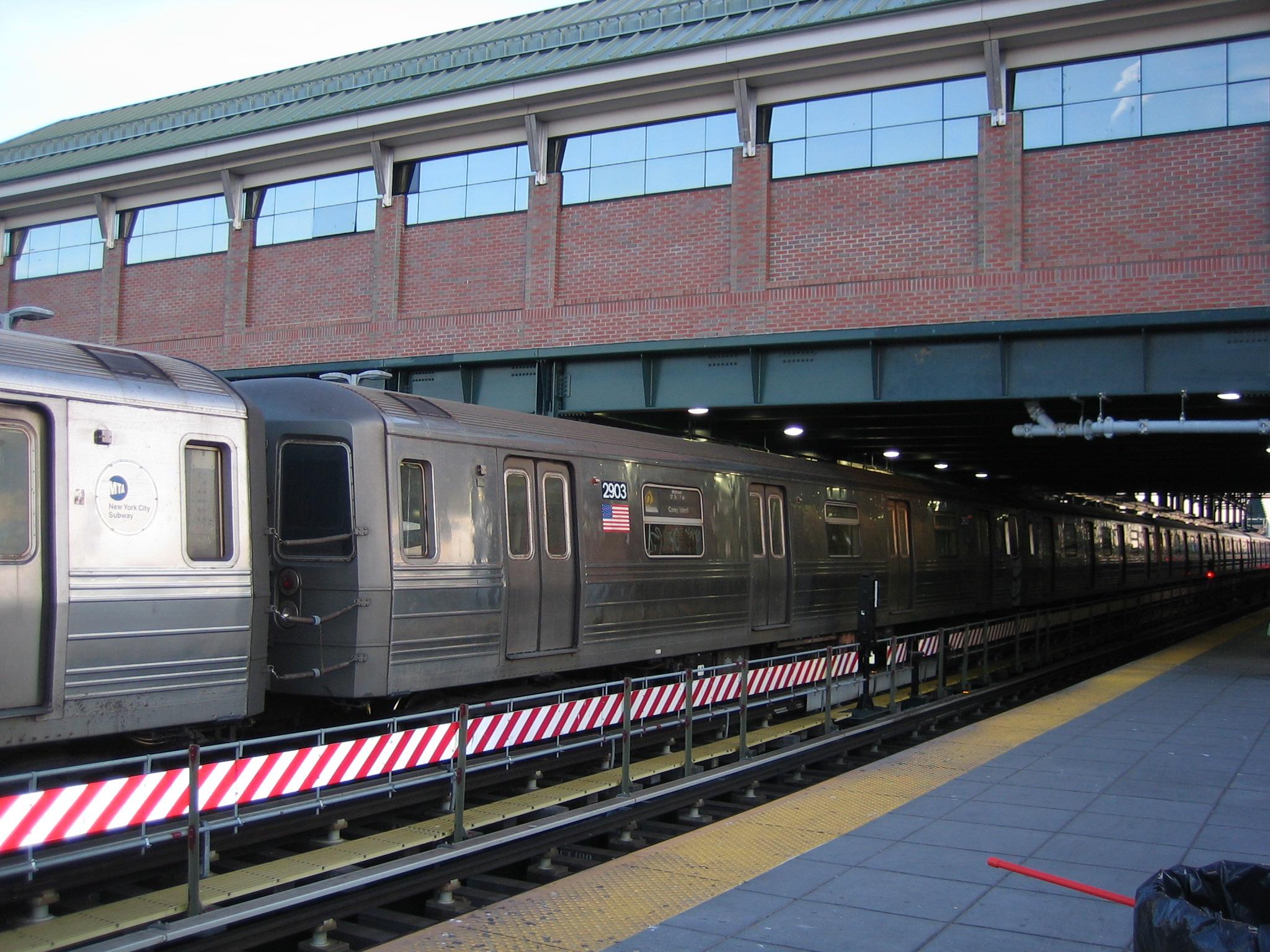 (927k, 2048x1536)<br><b>Country:</b> United States<br><b>City:</b> New York<br><b>System:</b> New York City Transit<br><b>Location:</b> Coney Island/Stillwell Avenue<br><b>Route:</b> Q<br><b>Car:</b> R-68 (Westinghouse-Amrail, 1986-1988)  2903 <br><b>Photo by:</b> Michael Hodurski<br><b>Date:</b> 3/17/2006<br><b>Viewed (this week/total):</b> 1 / 2204
