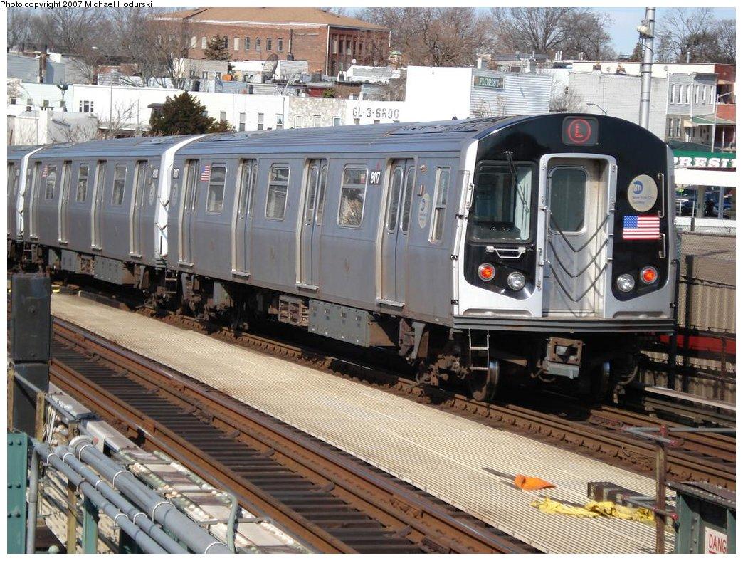 (232k, 1044x788)<br><b>Country:</b> United States<br><b>City:</b> New York<br><b>System:</b> New York City Transit<br><b>Line:</b> BMT Canarsie Line<br><b>Location:</b> Broadway Junction <br><b>Route:</b> L<br><b>Car:</b> R-143 (Kawasaki, 2001-2002) 8117 <br><b>Photo by:</b> Michael Hodurski<br><b>Date:</b> 2/23/2007<br><b>Viewed (this week/total):</b> 0 / 2204