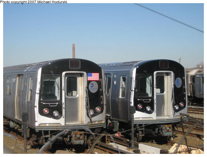 (76k, 660x500)<br><b>Country:</b> United States<br><b>City:</b> New York<br><b>System:</b> New York City Transit<br><b>Location:</b> Coney Island Yard<br><b>Car:</b> R-160B (Kawasaki, 2005-2008)  8717/8748 <br><b>Photo by:</b> Michael Hodurski<br><b>Date:</b> 1/4/2007<br><b>Viewed (this week/total):</b> 0 / 3708