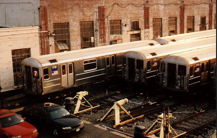 (96k, 895x571)<br><b>Country:</b> United States<br><b>City:</b> New York<br><b>System:</b> New York City Transit<br><b>Location:</b> Corona Yard<br><b>Car:</b> R-62A (Bombardier, 1984-1987)  1715 <br><b>Photo by:</b> Gary Chatterton<br><b>Date:</b> 8/2002<br><b>Viewed (this week/total):</b> 0 / 2786
