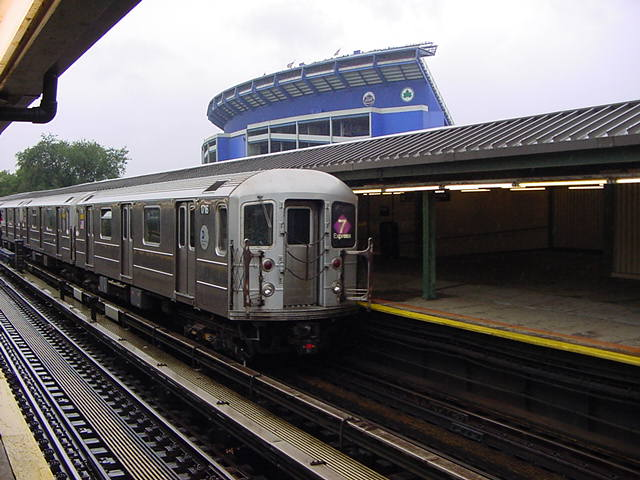 (61k, 640x480)<br><b>Country:</b> United States<br><b>City:</b> New York<br><b>System:</b> New York City Transit<br><b>Line:</b> IRT Flushing Line<br><b>Location:</b> Willets Point/Mets (fmr. Shea Stadium) <br><b>Route:</b> 7<br><b>Car:</b> R-62A (Bombardier, 1984-1987)  1716 <br><b>Photo by:</b> Salaam Allah<br><b>Date:</b> 9/26/2002<br><b>Viewed (this week/total):</b> 2 / 6735