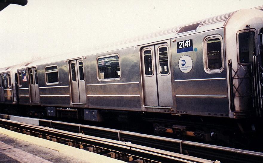 (80k, 880x546)<br><b>Country:</b> United States<br><b>City:</b> New York<br><b>System:</b> New York City Transit<br><b>Line:</b> IRT Flushing Line<br><b>Location:</b> Willets Point/Mets (fmr. Shea Stadium) <br><b>Route:</b> 7<br><b>Car:</b> R-62A (Bombardier, 1984-1987)  2141 <br><b>Photo by:</b> Gary Chatterton<br><b>Date:</b> 3/4/2002<br><b>Viewed (this week/total):</b> 0 / 2912