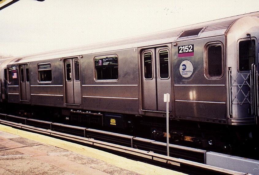 (85k, 845x571)<br><b>Country:</b> United States<br><b>City:</b> New York<br><b>System:</b> New York City Transit<br><b>Line:</b> IRT Flushing Line<br><b>Location:</b> Willets Point/Mets (fmr. Shea Stadium) <br><b>Route:</b> 7<br><b>Car:</b> R-62A (Bombardier, 1984-1987)  2152 <br><b>Photo by:</b> Gary Chatterton<br><b>Date:</b> 3/4/2002<br><b>Viewed (this week/total):</b> 0 / 2777