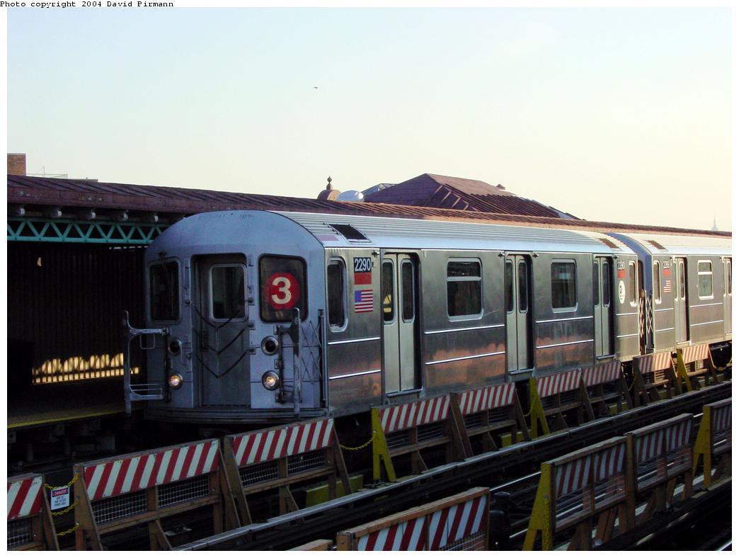 (107k, 1044x788)<br><b>Country:</b> United States<br><b>City:</b> New York<br><b>System:</b> New York City Transit<br><b>Line:</b> IRT White Plains Road Line<br><b>Location:</b> Simpson Street <br><b>Route:</b> 3<br><b>Car:</b> R-62A (Bombardier, 1984-1987)  2290 <br><b>Photo by:</b> David Pirmann<br><b>Date:</b> 8/21/2002<br><b>Viewed (this week/total):</b> 3 / 5086