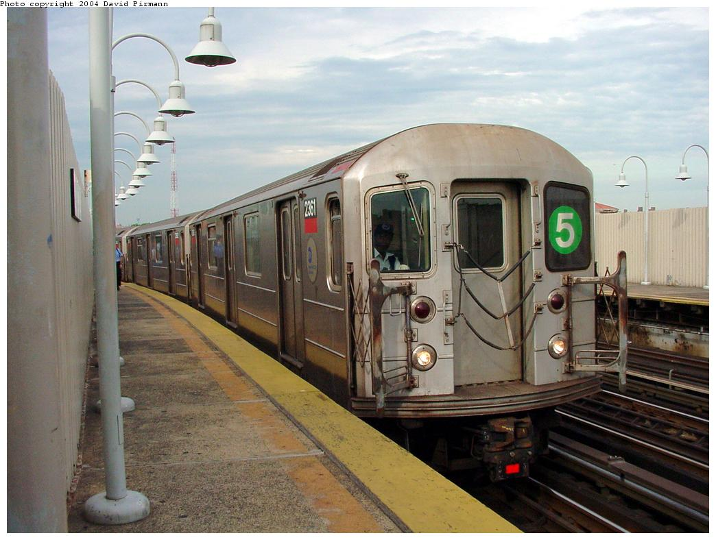 (123k, 1044x788)<br><b>Country:</b> United States<br><b>City:</b> New York<br><b>System:</b> New York City Transit<br><b>Line:</b> IRT White Plains Road Line<br><b>Location:</b> West Farms Sq./East Tremont Ave./177th St. <br><b>Route:</b> 5<br><b>Car:</b> R-62A (Bombardier, 1984-1987)  2361 <br><b>Photo by:</b> David Pirmann<br><b>Date:</b> 7/3/2001<br><b>Viewed (this week/total):</b> 0 / 7270
