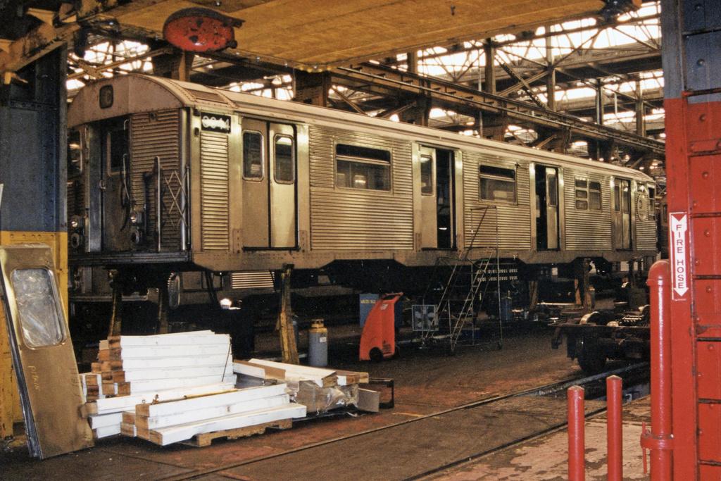 (458k, 1024x683)<br><b>Country:</b> United States<br><b>City:</b> New York<br><b>System:</b> New York City Transit<br><b>Location:</b> 207th Street Shop<br><b>Car:</b> R-32 (Budd, 1964)  3644 <br><b>Photo by:</b> Paul Polischuk<br><b>Date:</b> 9/9/2001<br><b>Viewed (this week/total):</b> 0 / 3559