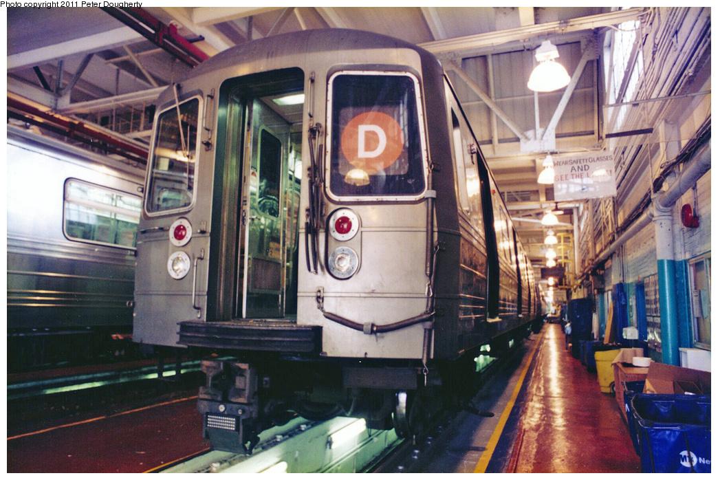 (411k, 1044x698)<br><b>Country:</b> United States<br><b>City:</b> New York<br><b>System:</b> New York City Transit<br><b>Location:</b> Concourse Yard<br><b>Car:</b> R-68/R-68A Series (Number Unknown)  <br><b>Photo by:</b> Peter Dougherty<br><b>Date:</b> 1998<br><b>Viewed (this week/total):</b> 5 / 3657