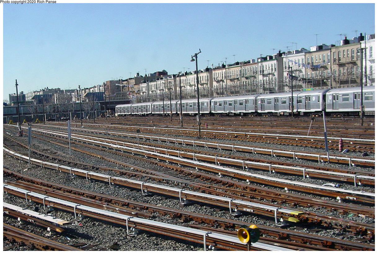 (128k, 820x620)<br><b>Country:</b> United States<br><b>City:</b> New York<br><b>System:</b> New York City Transit<br><b>Location:</b> Fresh Pond Yard<br><b>Photo by:</b> Richard Panse<br><b>Date:</b> 1/25/2002<br><b>Viewed (this week/total):</b> 0 / 7108