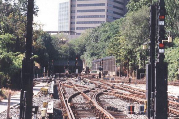 (68k, 579x387)<br><b>Country:</b> United States<br><b>City:</b> New York<br><b>System:</b> New York City Transit<br><b>Location:</b> Jamaica Yard/Shops<br><b>Photo by:</b> Peter Dougherty<br><b>Date:</b> 1998<br><b>Notes:</b> Yard leads<br><b>Viewed (this week/total):</b> 0 / 5920