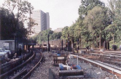 (35k, 425x278)<br><b>Country:</b> United States<br><b>City:</b> New York<br><b>System:</b> New York City Transit<br><b>Location:</b> Jamaica Yard/Shops<br><b>Photo by:</b> Peter Dougherty<br><b>Date:</b> 1998<br><b>Notes:</b> Yard leads<br><b>Viewed (this week/total):</b> 0 / 2926