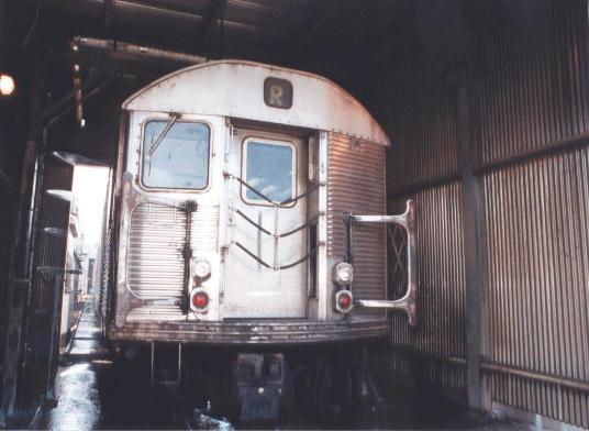 (37k, 536x392)<br><b>Country:</b> United States<br><b>City:</b> New York<br><b>System:</b> New York City Transit<br><b>Location:</b> Jamaica Yard/Shops<br><b>Car:</b> R-32 (Budd, 1964)   <br><b>Photo by:</b> Peter Dougherty<br><b>Date:</b> 1998<br><b>Notes:</b> Car wash<br><b>Viewed (this week/total):</b> 1 / 4642