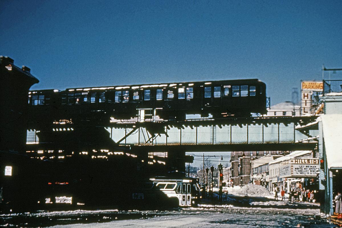 (324k, 1024x683)<br><b>Country:</b> United States<br><b>City:</b> New York<br><b>System:</b> New York City Transit<br><b>Line:</b> BMT Nassau Street/Jamaica Line<br><b>Location:</b> Sutphin Boulevard (Demolished) <br><b>Route:</b> Jamaica<br><b>Car:</b> BMT A/B-Type Standard 2189 <br><b>Collection of:</b> David Pirmann<br><b>Date:</b> 2/6/1961<br><b>Viewed (this week/total):</b> 2 / 8684